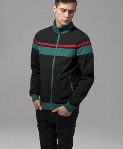 Jacheta nailon trei culori negru-verde Urban Classics - Geci subtiri - Urban Classics>Barbati>Geci subtiri