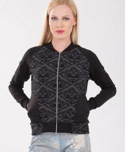 Jacheta neagra din jerse D2102 - Jachete -
