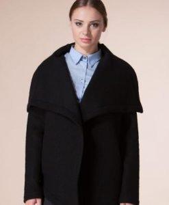 Jacheta neagra din lana D2215 - Jachete -