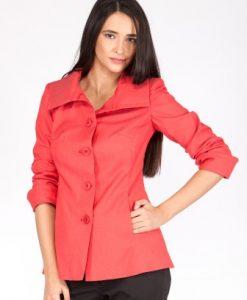 Jacheta rosu-corai din bumbac SR071NB - Jachete -