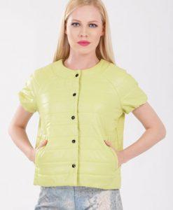 Jacheta verde cu maneci scurte D2135 - Jachete -