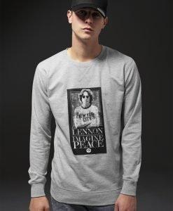 John Lennon Imagine Crewneck deschis-gri Merchcode - Bluze cu trupe - Mister Tee>Trupe>Bluze cu trupe