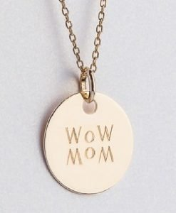 Lanț cu pandantiv WOW MOM auriu - Produse > Cadouri WoW > Bijuterii WoW -