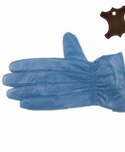 Manusi dama piele naturala SP002 albastre - Promotii - Lichidare Stoc