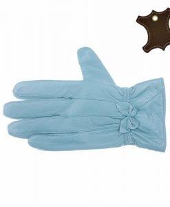 Manusi dama piele naturala SP005 albastre - Promotii - Lichidare Stoc