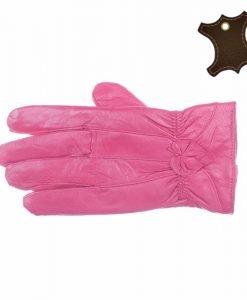 Manusi dama piele naturala SP005 roz inchis - Promotii - Lichidare Stoc