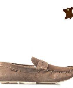 Mocasini barbati piele Alex camel - Piele Promo BG - Incaltaminte din piele pentru barbati