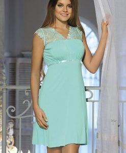 Neglijeu elegant Virginia Mint - Lenjerie pentru femei - Neglijeuri de lux