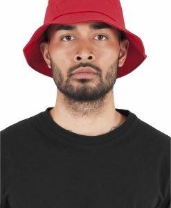 Palarie vara bumbac Flexfit Twill Bucket Hat barbati rosu - Palarii Bucket - Flexfit>Palarii Bucket