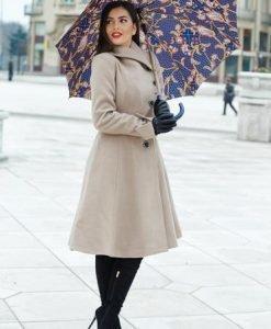 Palton Artista Cold Season Cream - Paltoane -