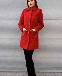 Palton LaDonna Fabulous Winter Burgundy - Paltoane -