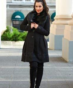 Palton LaDonna Victorian Romance Black - Paltoane -