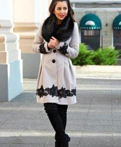 Palton LaDonna Victorian Romance Grey - Paltoane -