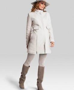 Palton Pentru Gravide Classy Cream - Paltoane -