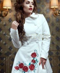 Palton StarShinerS Brodat Rose Desire Nude - Paltoane -