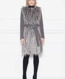 Palton cu insertie din blana artificiala Gri - Imbracaminte - Imbracaminte / Paltoane