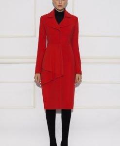 Palton cu volan aplicat Rosu - Imbracaminte - Imbracaminte / Paltoane