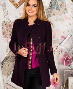 Palton dama mov pruna - PALTOANE si GECI -