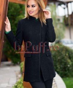 Palton dama negru - PALTOANE si GECI -
