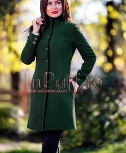 Palton dama verde inchis - PALTOANE si GECI -