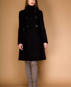 Palton in clos din lana LAURA negru - Paltoane -