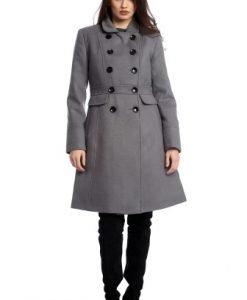 Palton matlasat cu nasturi AM-21611702 gri - Outlet -