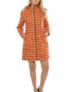 Palton matlasat din stofa cu fermoar PF20 multicolor - Paltoane -