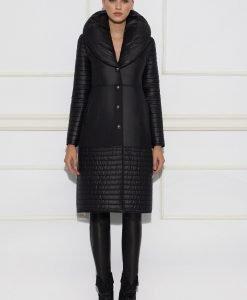 Palton negru casual Negru - Imbracaminte - Imbracaminte / Paltoane