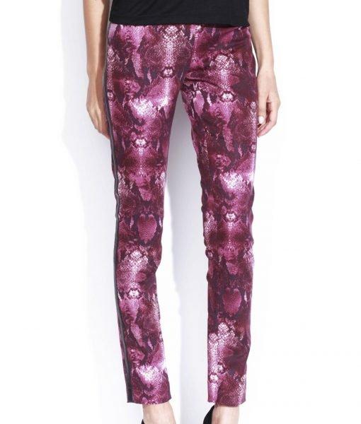 Pantalon conic cu print Imprimat/Mov – Imbracaminte – Imbracaminte / Pantaloni