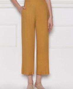 Pantalon culotte din vascoza Galben - Imbracaminte - Imbracaminte / Pantaloni