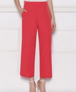 Pantalon culottes din vascoza Rosu - Imbracaminte - Imbracaminte / Pantaloni