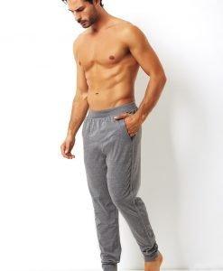 Pantalon de trening pentru barbati Enrico Coveri gri din bumbac - Lenjerie pentru barbati - Haine de casa