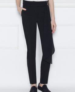 Pantalon slim cu detaliu din voal Negru - Imbracaminte - Imbracaminte / Pantaloni
