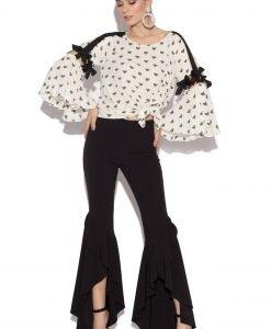 Pantaloni Flare Asimetrici Negru - Imbracaminte - Imbracaminte / Pantaloni