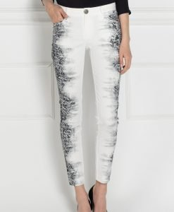 Pantaloni P7446 Alb/Negru - Imbracaminte - Imbracaminte / Pantaloni