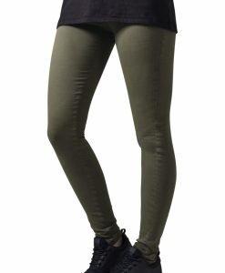Pantaloni Skinny pentru Femei oliv Urban Classics - Pantaloni trening - Urban Classics>Femei>Pantaloni trening