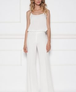 Pantaloni albi evazati Alb - Imbracaminte - Imbracaminte / Pantaloni