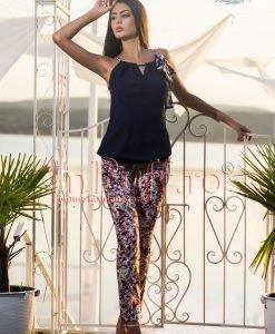 Pantaloni bumbac imprimeu floral diverse culori - PANTALONI COLANTI - PANTALONI COLANTI > Pantaloni