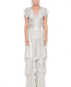 Pantaloni cu volane Argintiu - Imbracaminte - Imbracaminte / Pantaloni