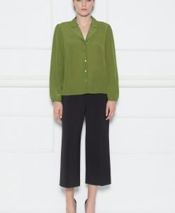 Pantaloni culottes cu talie inalta Negru - Imbracaminte - Imbracaminte / Pantaloni