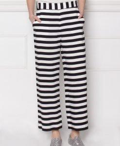 Pantaloni culottes din viscoza cu imprimeu grafic Dungi - Imbracaminte - Imbracaminte / Pantaloni