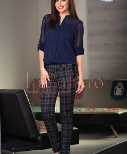 Pantaloni dama jerse carouri - PANTALONI COLANTI - PANTALONI COLANTI > Pantaloni
