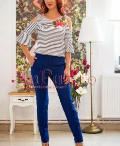 Pantaloni de dama albastru inchis - PANTALONI COLANTI - PANTALONI COLANTI > Pantaloni