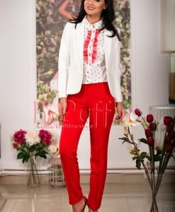 Pantaloni de dama rosii - PANTALONI COLANTI - PANTALONI COLANTI > Pantaloni