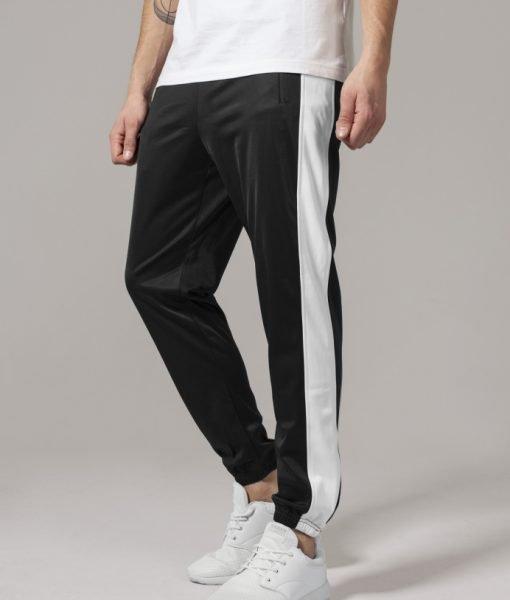 Pantaloni de trening negru-alb Urban Classics – Pantaloni trening – Urban Classics>Barbati>Pantaloni trening