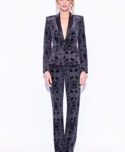 Pantaloni din catifea cu fir metalic Negru - Imbracaminte - Imbracaminte / Pantaloni