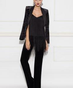 Pantaloni din catifea cu sclipici Negru - Imbracaminte - Imbracaminte / Pantaloni