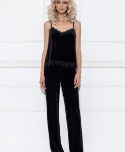 Pantaloni din catifea cu vipusca Negru - Imbracaminte - Imbracaminte / Pantaloni