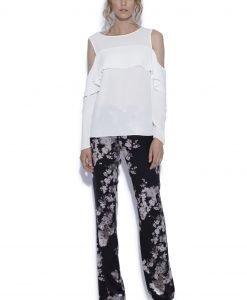 Pantaloni drepti cu print floral Imprimeu Flori - Imbracaminte - Imbracaminte / Pantaloni