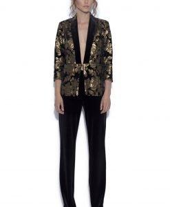 Pantaloni drepti din catifea Negru - Imbracaminte - Imbracaminte / Pantaloni